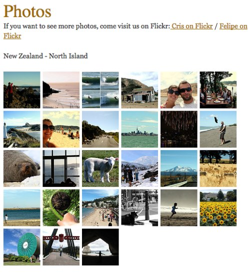 Flickr Mini Gallery Example
